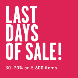 Last days of sale!