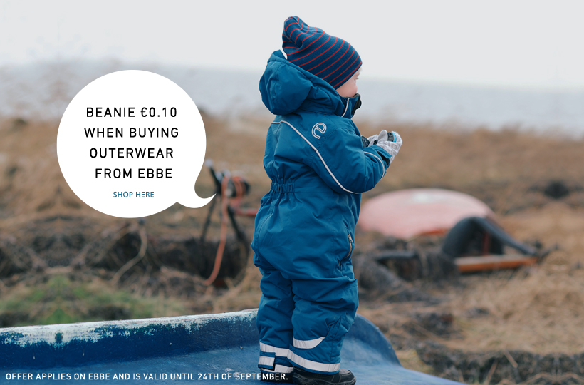 Beanie €0.10 when buying outerwear from ebbe