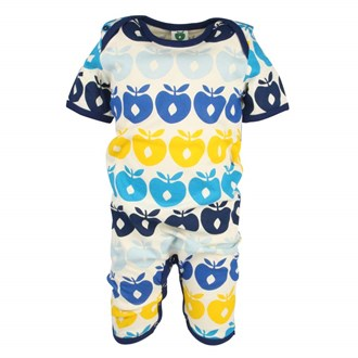 Summersuit Multi Apples Navy, Småfolk