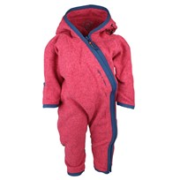 Rib Fleece Jumpsuit Fuchsia