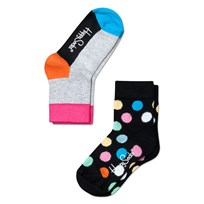 Big Dots Multi Black 2-PACK