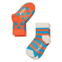 Stripes Dots Blue Orange 2-P