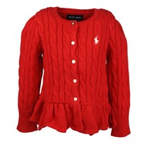 Cardigan Peplum Red