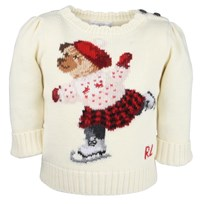 Skating Bear Sweater Cream