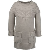 Kids Girls Sweater Knitted Gre