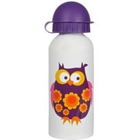 Steel Bottle Purple Owl