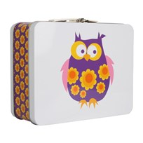 Lunchbox Purple Owls