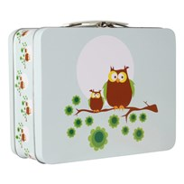 Lunchbox Blue Owls