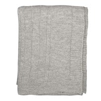 Merino Cotton Blend Throw Grey