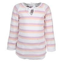 Basic Body Print Stripe Peach