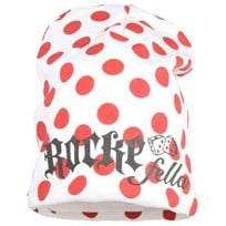 Rocco Hat White Red Dots