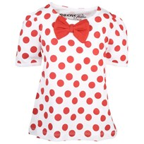 Penny Top White W Red Dots