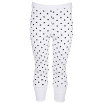 Rusty Leggings White Black Dot