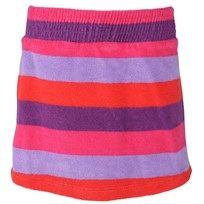 Terry Striped Skirt Plum