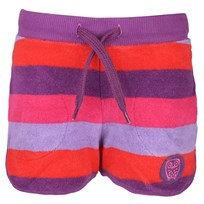 Terry Striped Shorts Plum