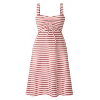 Nursing Dress Simone Neon Red