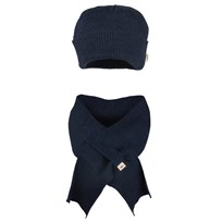 Essentials Hat & Scarf Navy