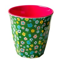 Melamine Cup Green Flower