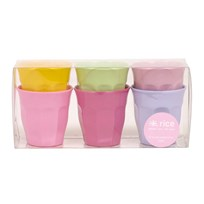 S Melamine Cup 6 Girlie Colors