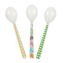 3 Short Spoons Green Celeb.