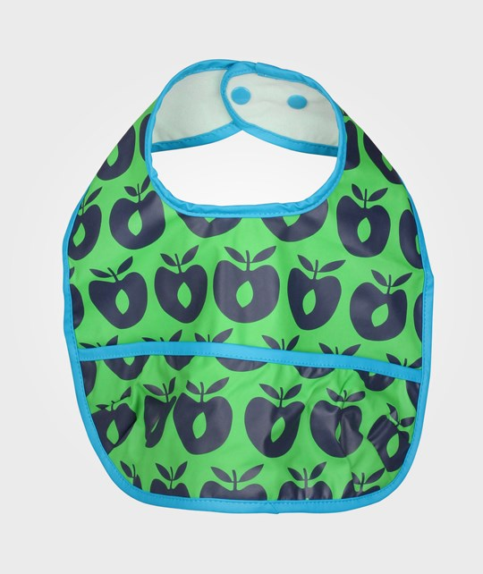 Småfolk Bib, Rubber Apples Green Green