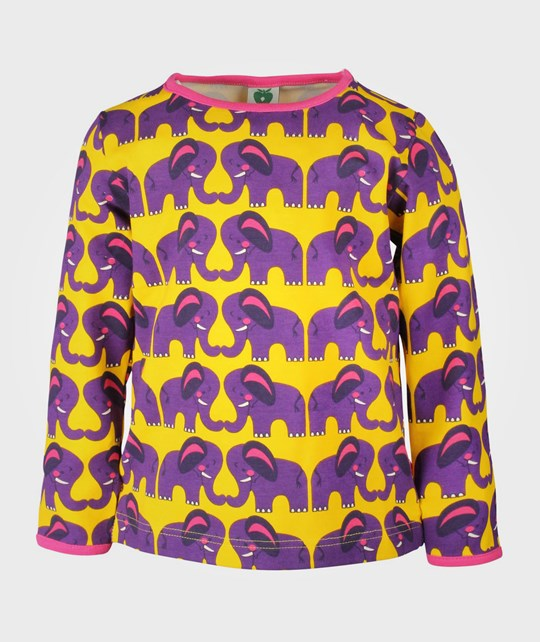 Småfolk T-shirt LS Elephants Yellow Yellow