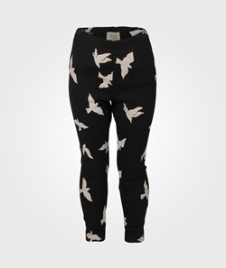 Livly Luna Crew Pants Black/Beige Birds