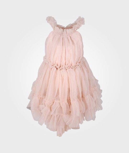 DOLLY by Le Petit Tom Ruffled Chiffon Dance Dress Ballet Pink Pink