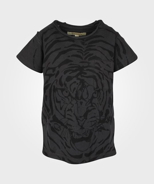 Soft Gallery Ashton Tiger Explosion Dark Shadow  Black