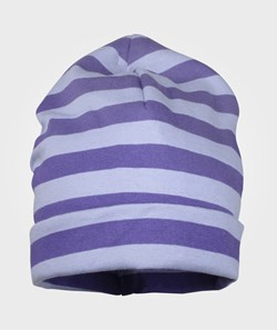 Mikk-Line Hat Striped Double Layer Blue Violet