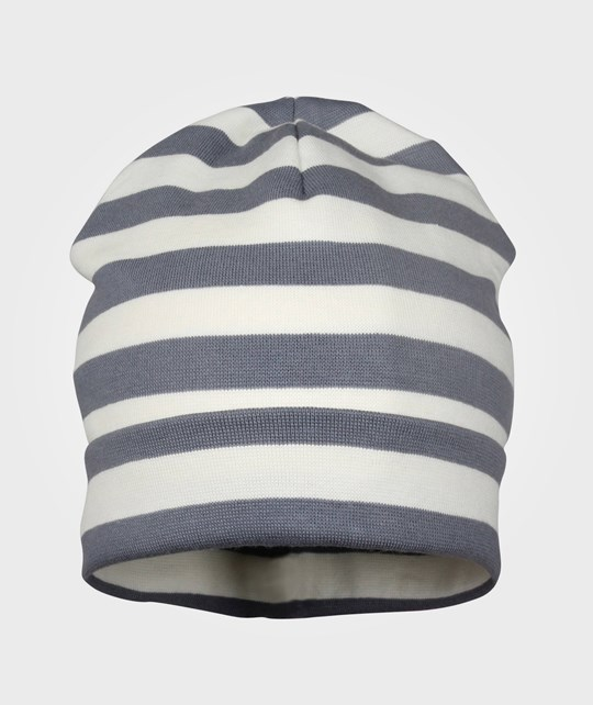 Mikk-Line Hat Striped Double Layer Graphite Grey Black