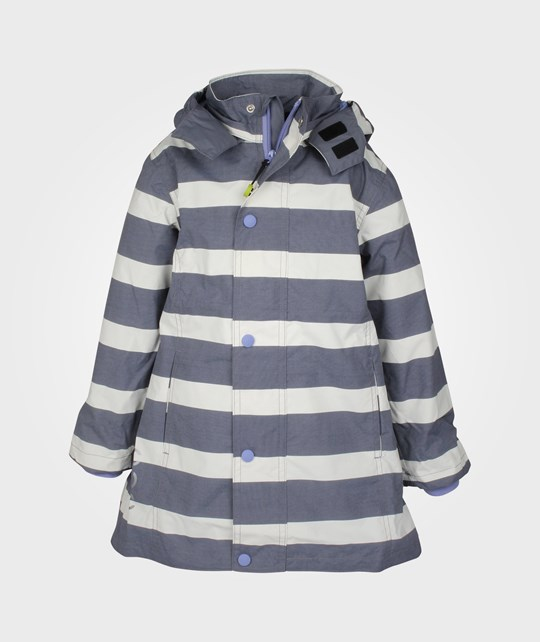 Mikk-Line Nylon Girls Coat AOP Blue Violet Blue
