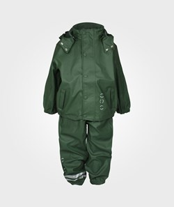 Mikk-Line Rain Wear PU Basic Army Green