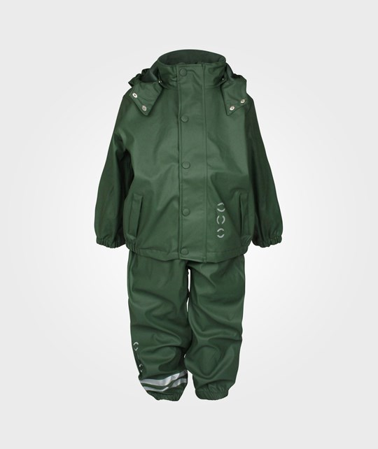 Mikk-Line Rain Wear PU Basic Army Green Green