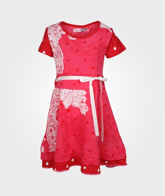 Desigual Dress Vetive Coral  Pink