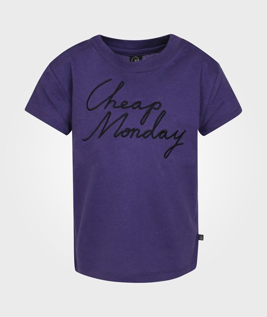 Cheap Monday Baby Print Tee CM Embroidery Kris Kross Purple Purple