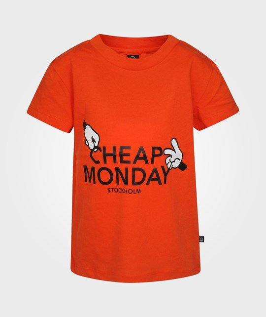 Cheap Monday Baby Print Tee Thievery Sexy Red Rød