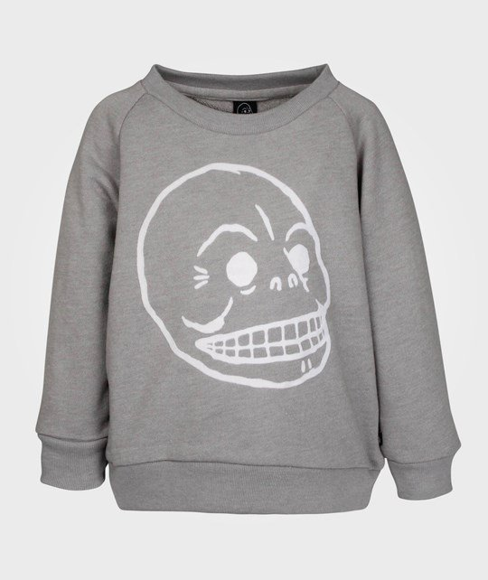 Cheap Monday Baby Print Sweater Grey Melange Skull Grey