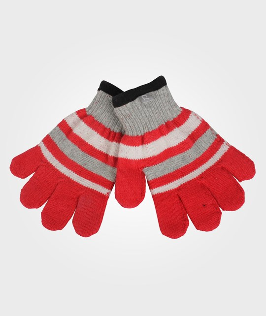 Reima Bille Mittens Red Red