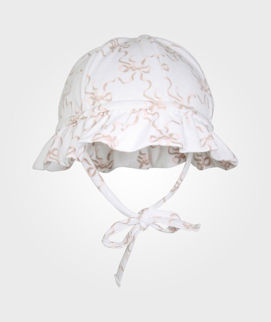 Livly Hat White/Bow And Lace Print White
