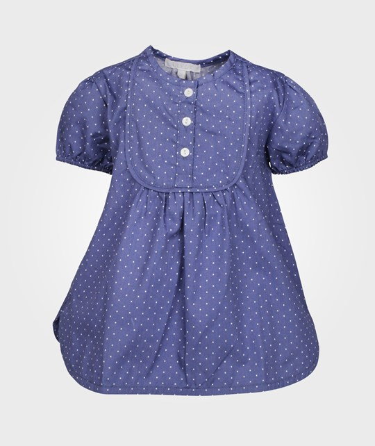 Livly Loy Blouse Blue White Dots Blue