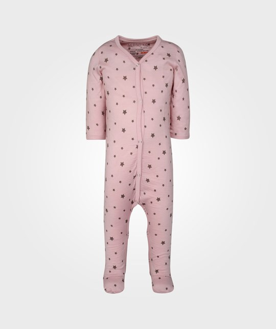 Merino Kids Essentials Growsuit Dusky Pink Pink