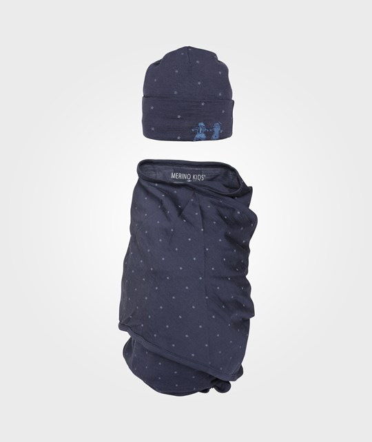 Merino Kids Cocooi Swaddle Midnight Blue Blue