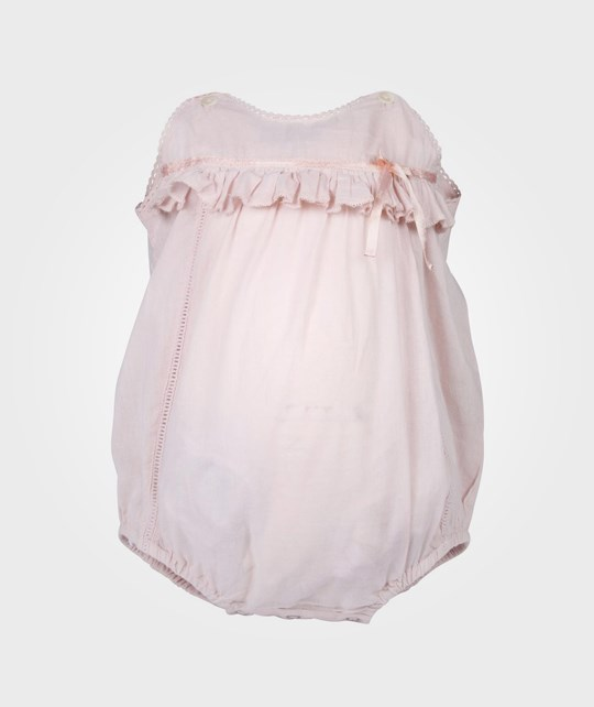 How To Kiss A Frog Lace Romper Powder Pink