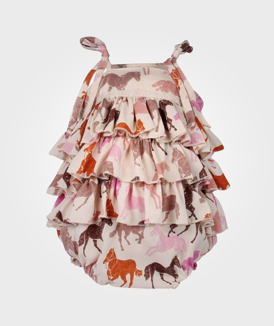 How To Kiss A Frog Tiara Romper Pink Horse Pink