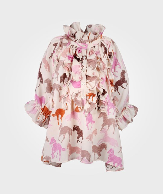 How To Kiss A Frog Mimosa Blouse Pink Horse Pink
