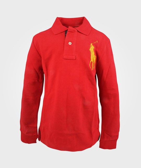 Ralph Lauren LS Custom Fit Polo Martin Red Red