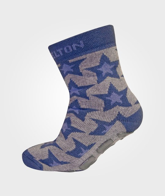 Melton ABC Sock Center Star Deep Blue Blue