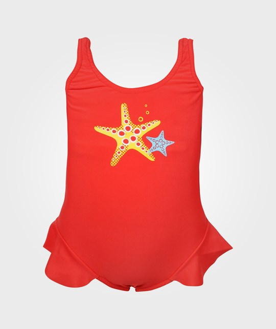 Reima Corfu Swimsuit Flame Red Red