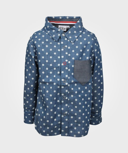 ebbe Kids Leo Shirt Blue/White Dot Blue